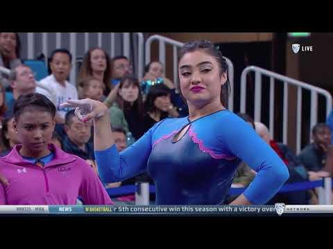 Felicia Hano (UCLA) 2018 Floor vs Utah 9.975