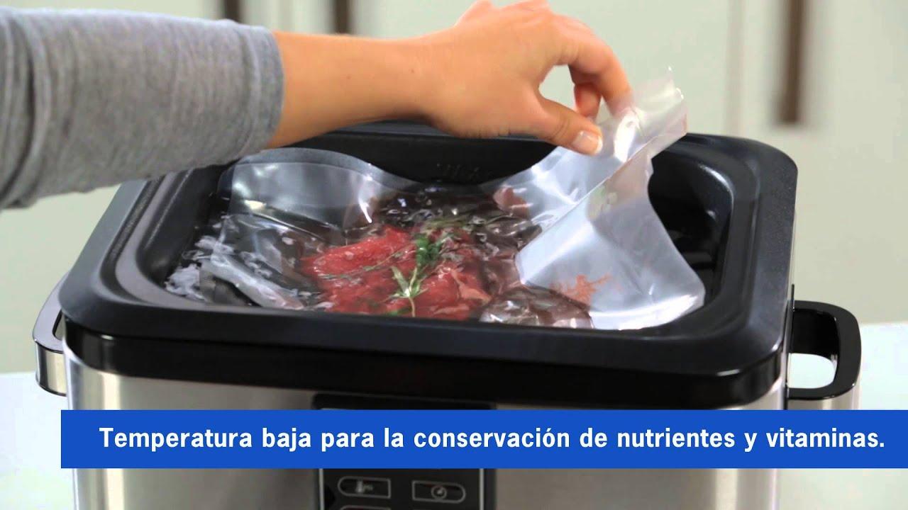 Severin horno de cocci n al vac o sv 2447 youtube - Tiempo de cocer patatas ...