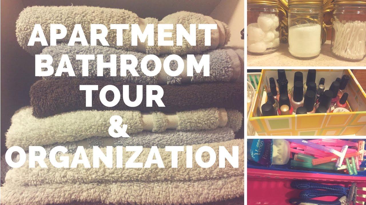 apartment bathroom tour organization and storage ideas fall