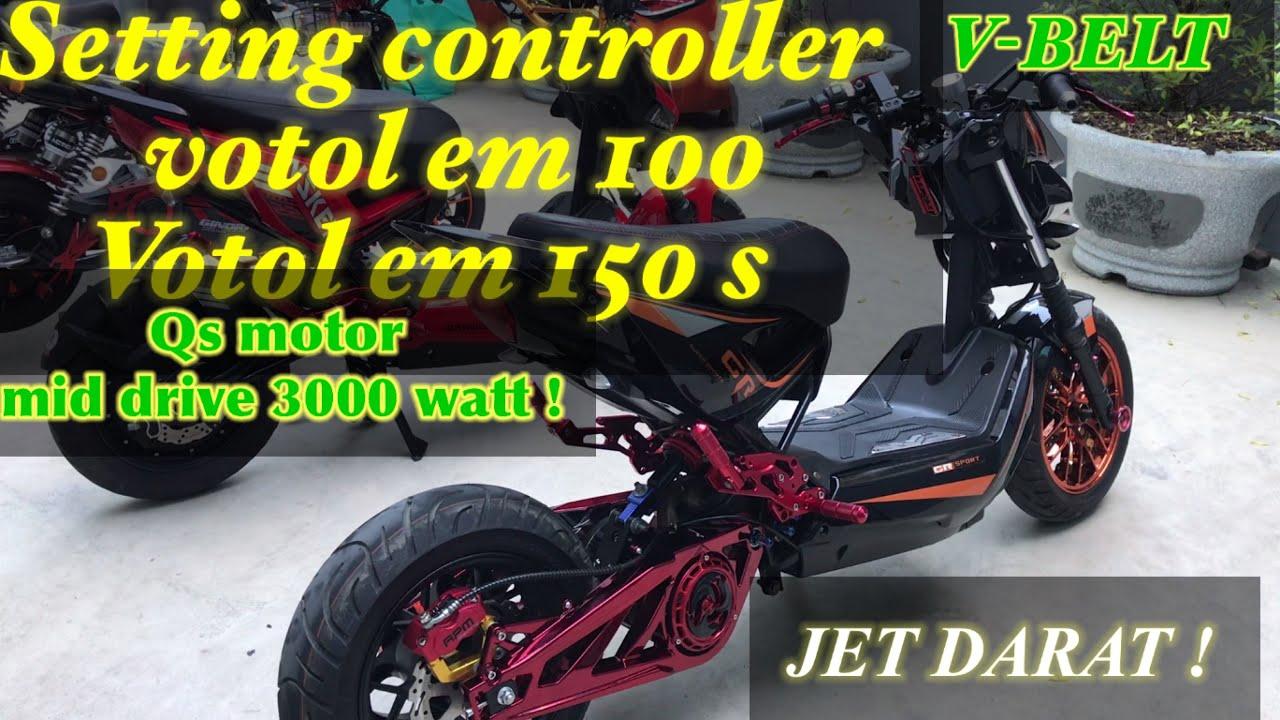 Setting votol 100 & 150 s pada Mid drive Qs motor 3000 watt and Qs Hub motor 3000 watt