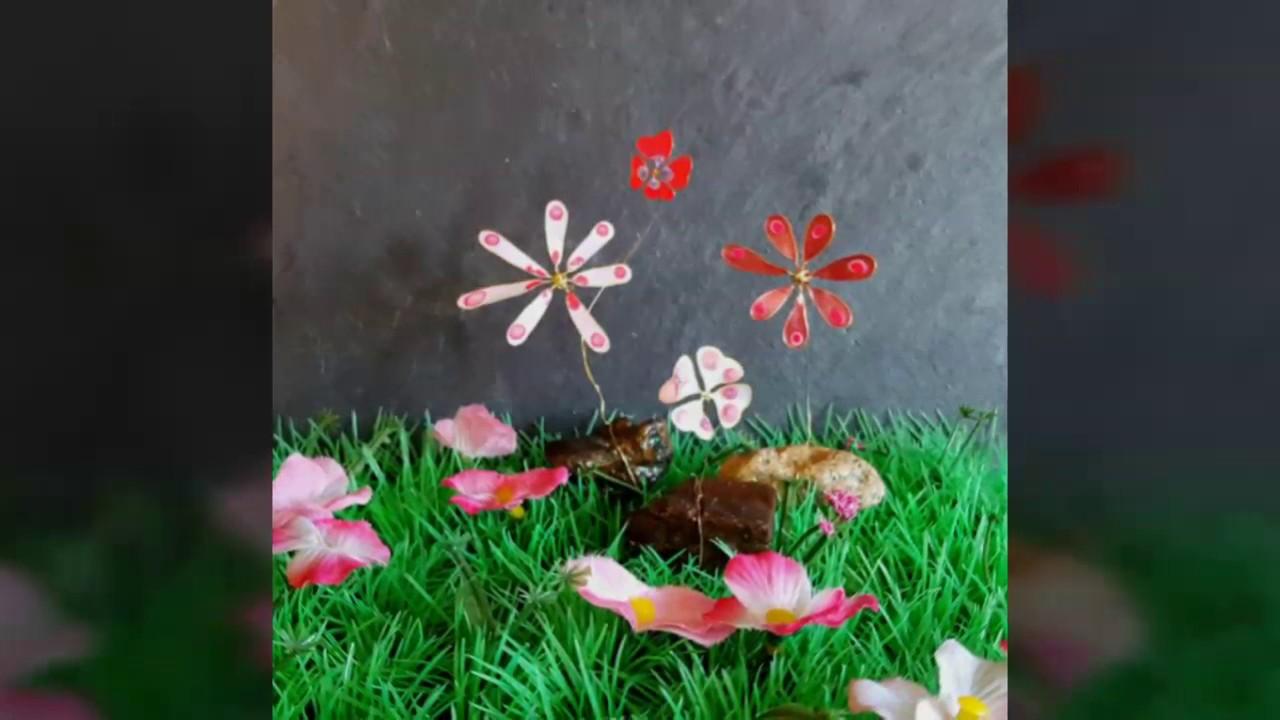 Blumen Aus Nagellack Draht Und Stein Deko Nagellackblumen Selber