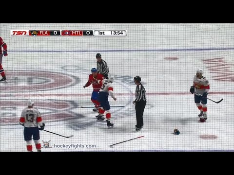 Aaron Ekblad vs Nicolas Deslauriers Mar 19, 2018