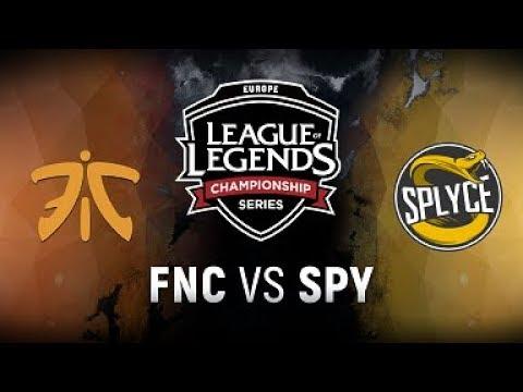 FNC vs. SPY  - Week 1 Game 5 | EU LCS Spring Split |  Fnatic vs. Splyce(2018)