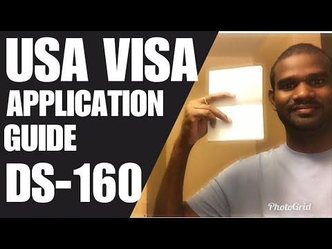 USA VISA APPLICATION B1/B2 / DS-160 EXPLAINED TAMIL
