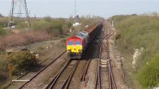 Class 66s on steel Diversion and Hst 07 04 2019