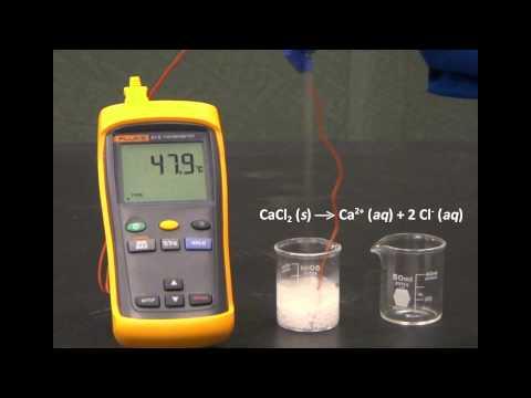 Exothermic Dissolution Of Calcium Chloride