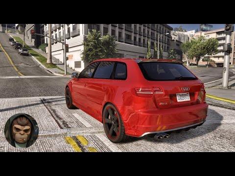 ► GTA 6 Graphics - PhotoVision✪ - Audi RS3! Realistic Graphics MOD! PC - 1080p 60 FPS!
