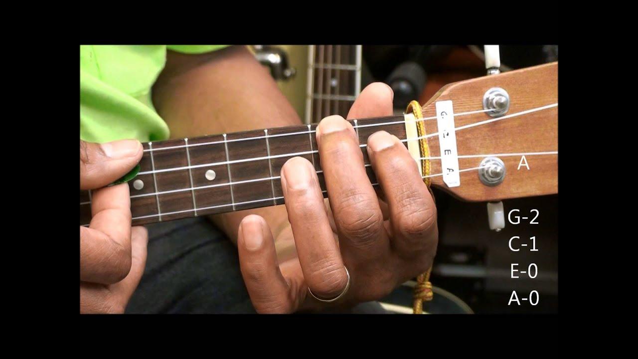 Ukulele Chord Tabs Tutorial 50 Meghan Trainor Style A Bm7 E