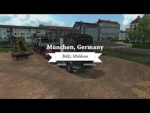 Euro Truck Simulator 2 with Promods - Munchen (Germany) to Balti ( Moldova)