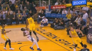 Andre Iguodala Shocks Warriors Crowd With Amazing Dunk At 34 Years Old! Warriors vs Knicks