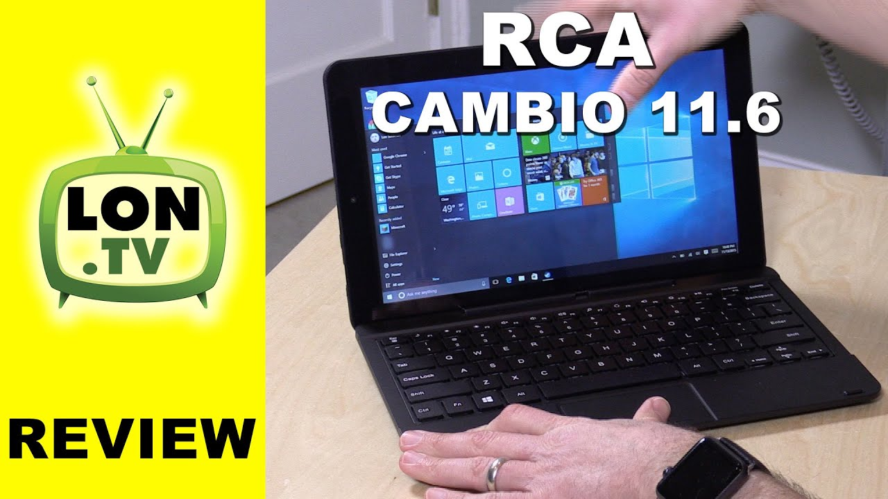 RCA Cambio 11 6 Inch Windows 10 Detachable Keyboard Tablet Review - $199