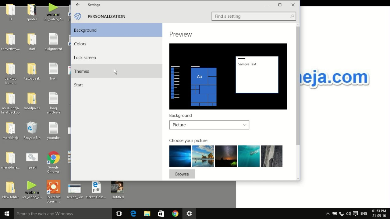 how to put control panel on desktop in windows 10 youtube