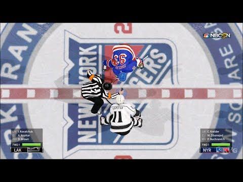 NHL 19 - New York Rangers vs Los Angeles Kings - Gameplay (HD) [1080p60FPS]