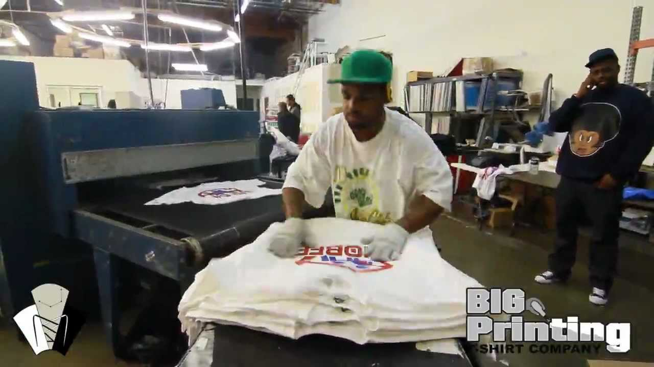 Big Printing T Shirt Company A Day In The Life Youtube