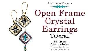Open Frame Crystal Earrings - Beadweaving Tutorial