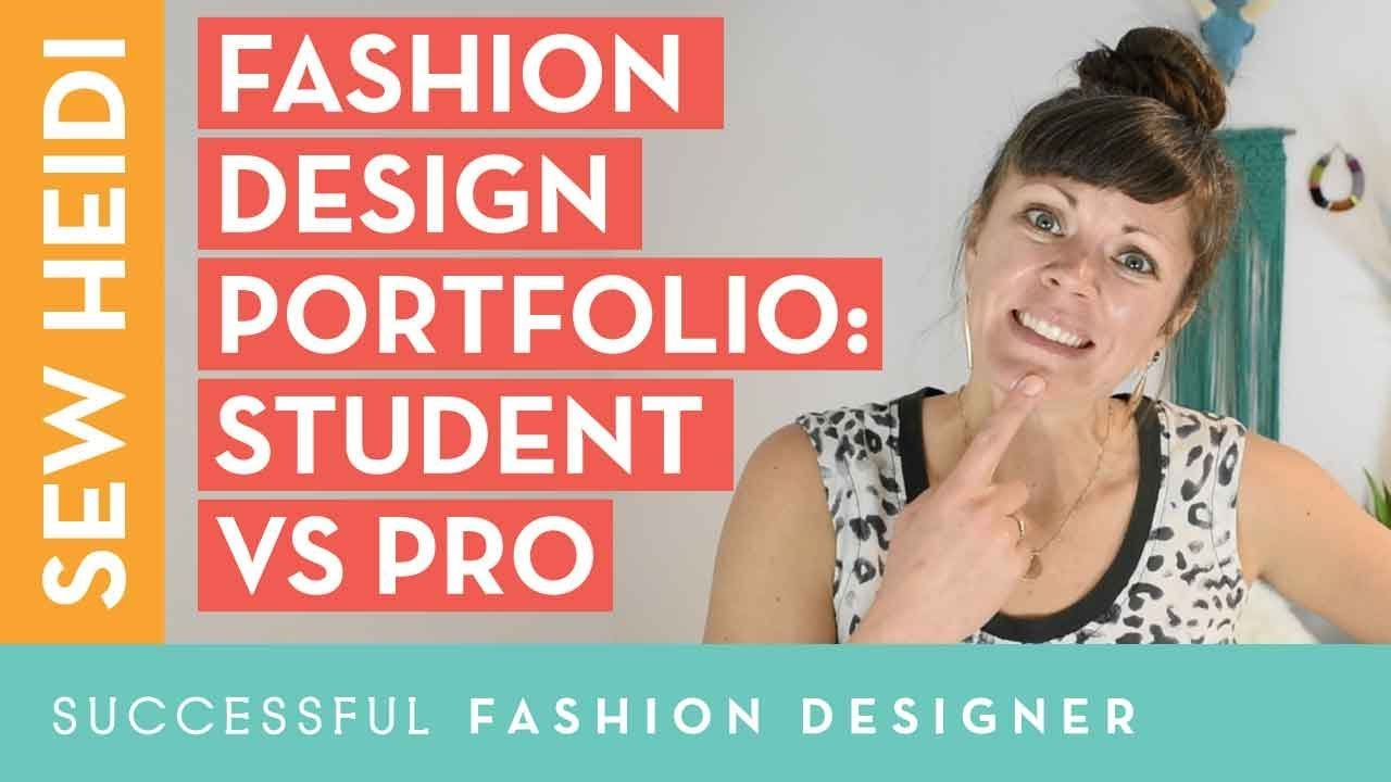 How To Create A Fashion Portfolio That Gets The Job Student Vs Professional Fashion Designer Youtube