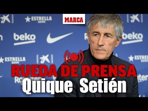 Rueda de prensa de Quique Setién I MARCA