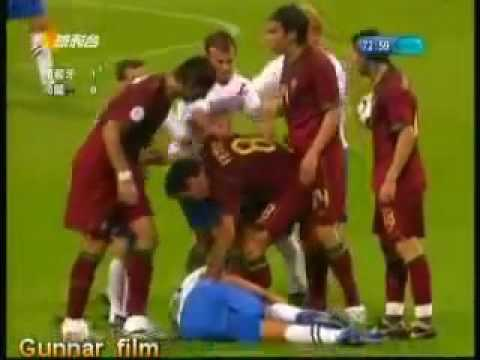 Worst Football Match Portugal vs Holland World Cup 06 Fouls 16 Yellow card 4 Red card