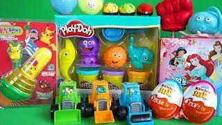 다양한 장난감 개봉, various toys, 불빛팽이, 플레이도, 스트레스볼,주물럭볼, 얼초 초코킷,스위트도저,킨더조이, 쥐