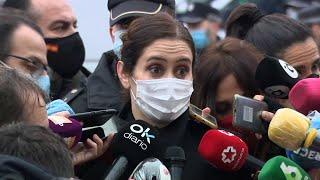 Ayuso ofrece su colaboración al Ayuntamiento tras la explosión en Madrid