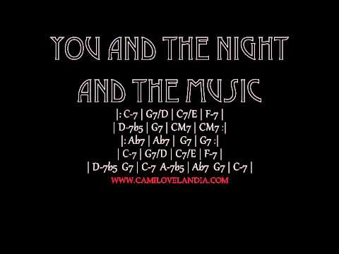 Backing Tracks - You And The Night And The Music (Funk) Cm