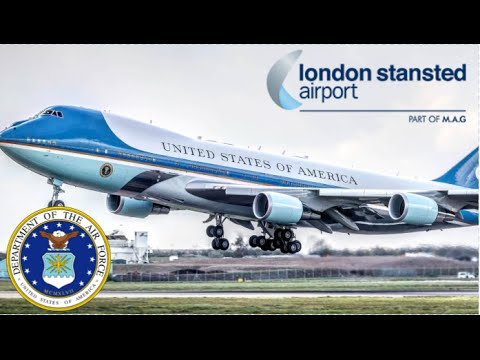 Download Air Force One Departs London Stansted Airport | 24th April 2016
