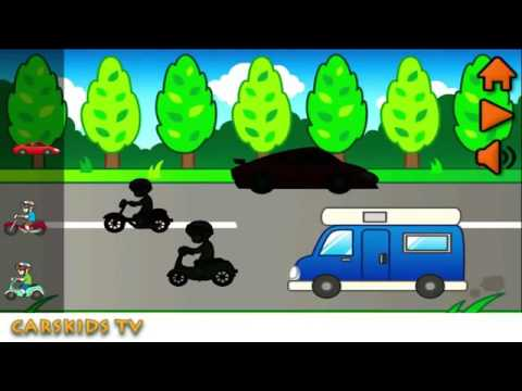 Street Vehicles Transport Educational videos for children Cars and to Trucks Carski