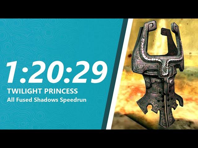 Twilight Princess All Fused Shadows Speedrun in 1:20:29