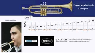 Video de trompete - escala natural