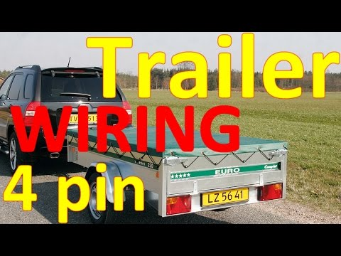 Trailer Plug Wiring Diagram 4 Pin Youtube