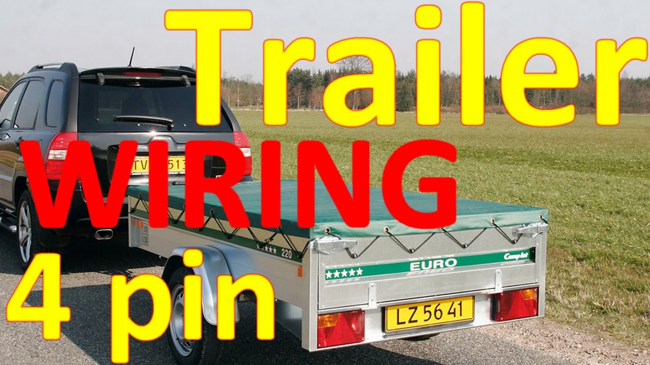 Towing Plug Wiring Trailer Diagram 4 Pin Youtube