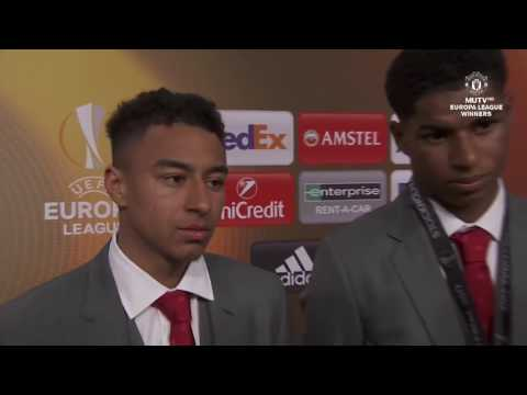Interviews with Jose Mourinho, Marcus Rashford and Jesse Lingered After Europa Final