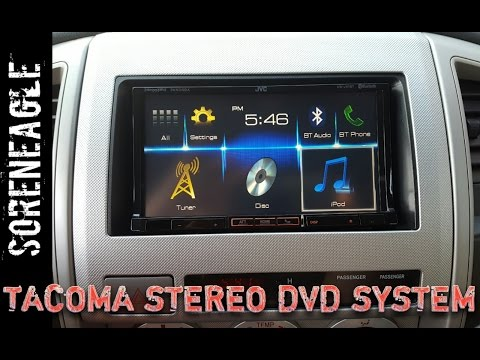 Tacoma 2nd Gen DVD Stereo System Install Double Din Headrest Monitors Rear Camera Toyota 05-11 TRD