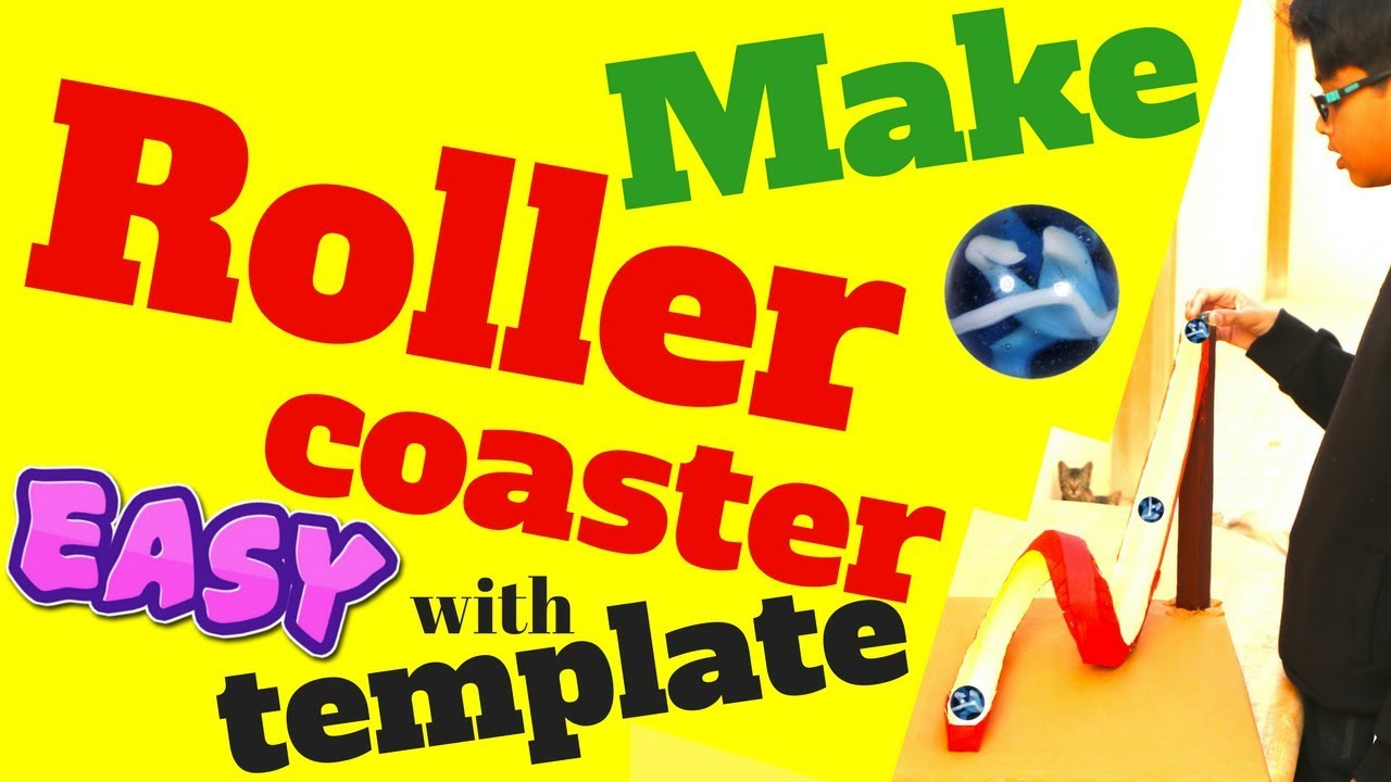 paper roller coaster loop template - how to make roller coaster with template easy handmade