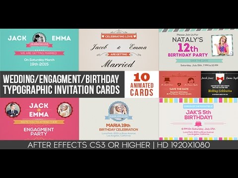 After Effects Templates Wedding