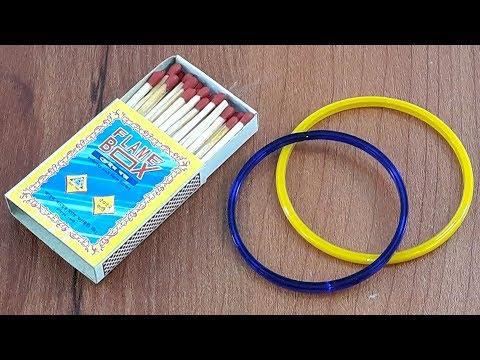 Old bangles & matchstick craft idea | Amazing creative idea for beautiful home decor