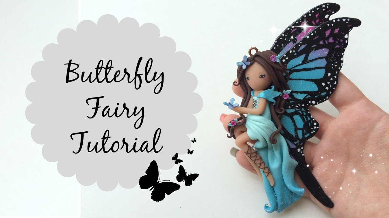 Image result for How to make polymer clay butterfly fairy doll