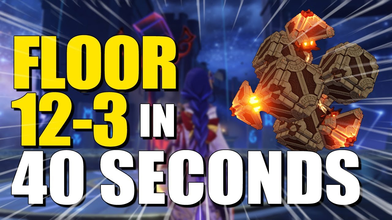 NEW 2.1 SPIRAL ABYSS FLOOR 12-3 Both in 40 Seconds