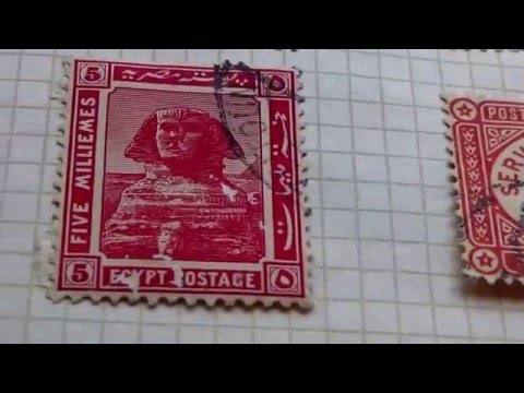 Here Are Some Rare Egypt Postage Stamps