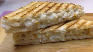 MAC & CHEESE SANDWICH  (RAMADAN SPECIAL RECIPE)  #Ramadan2019 #GrillSandwich