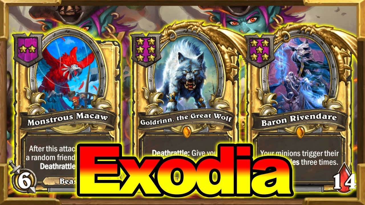 Crazy Instant Triple Baron | Exodia! Monstrous Macaw + Goldrinn + Baron = First Place | Hearthstone