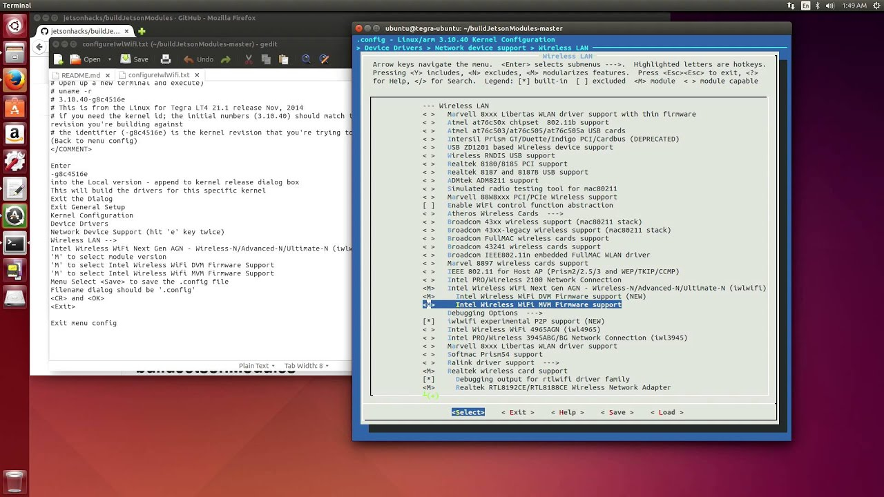 Build Modules and Drivers for NVIDIA Jetson TK1 - L4T 21 1