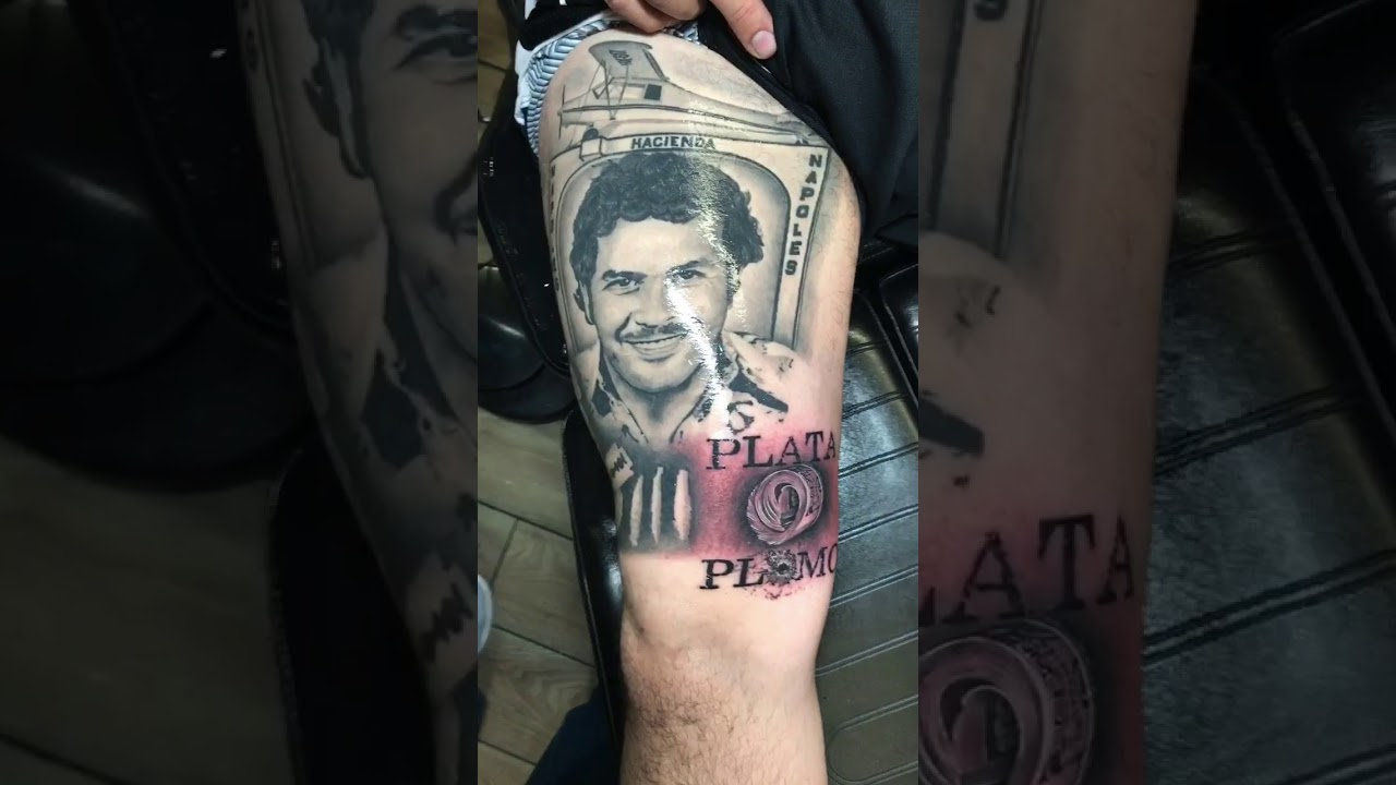 Pablo Escobar Back Tattoo