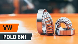 How to change Accessory Kit, disc brake pads on VW POLO (6N1) - online free video