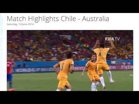 Chile 3-1 Australia All Goals & Highlights HD ( FIFA World Cup Brasil 2014)