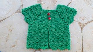 Girls Cardigan (Crochet)