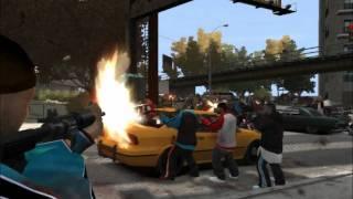 GTA 4 Gang territories: Crips vs Bloods..watch this war