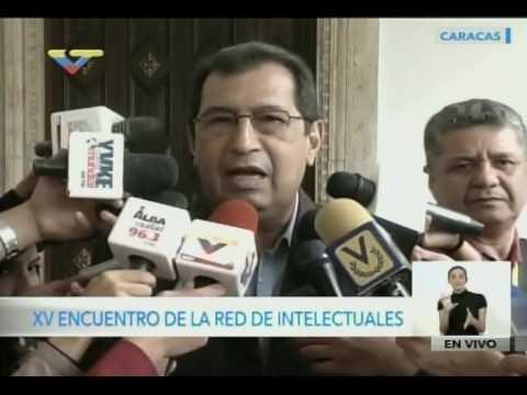 Ministro Adán Chávez sobre Encuentro de Intelectuales y foro sobre Comunicación