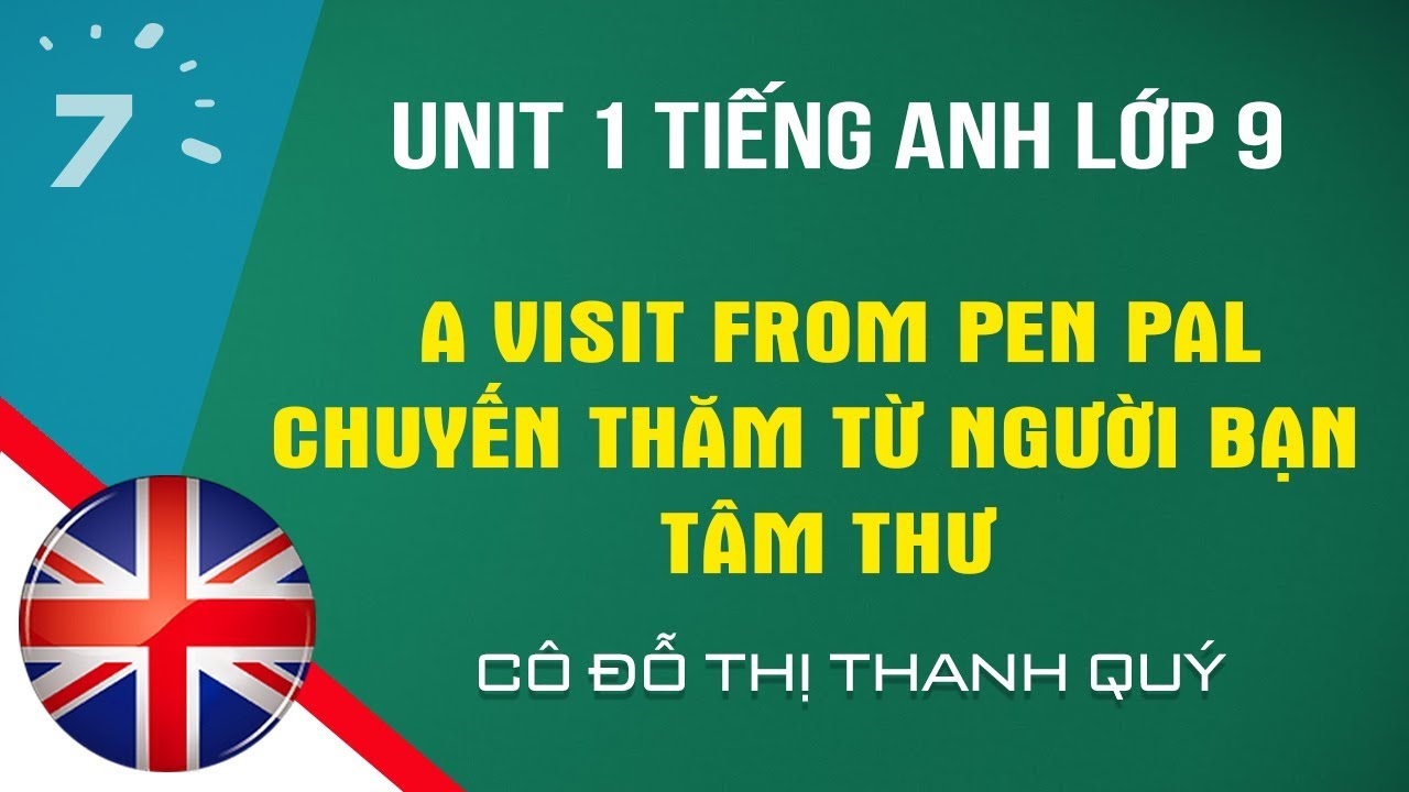 Unit 1 Tiếng Anh lớp 9: A visit from pen pal – Chuyến thăm từ người bạn tâm thư  HỌC247