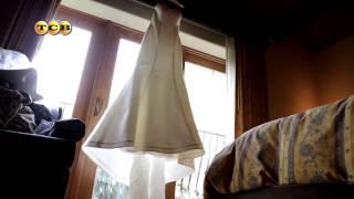 видео Свадебное платье бальное (пышное), длинное, кружевное, для беременных, с рукавами «ERNESTA»